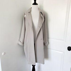 Topshop Grey Slouchy Coat